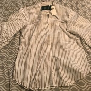 Lauren by Ralph Lauren Stripes Button up Top